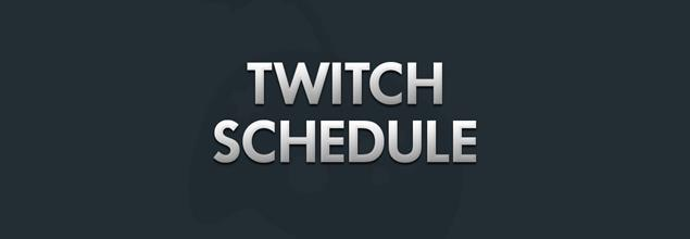 Streaming Schedule