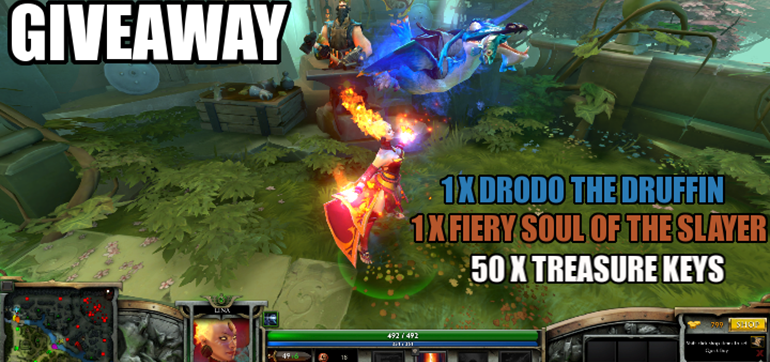 DOTA 2 Winter Giveaway - Drodo, Arcana & Treasure Keys