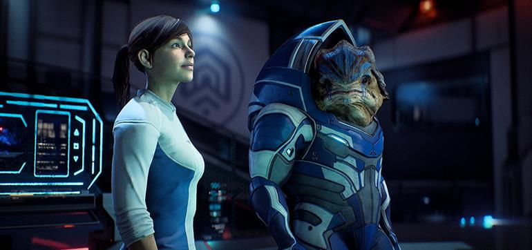 Mass Effect Andromeda character screenshots