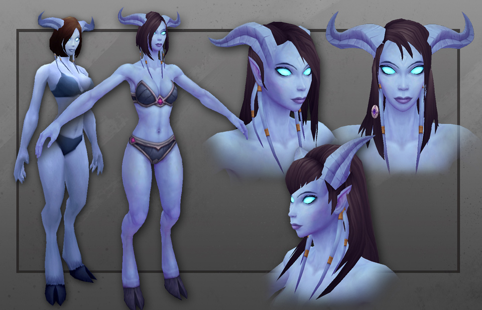 WoW  Warlords of Draenor Upgraded Draenei ModelDraenei Wow